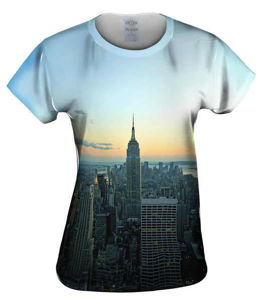 Empire State New York Sunset Womens Top