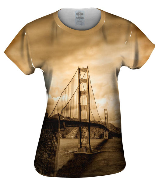 Golden Gate In Sepia Womens Top