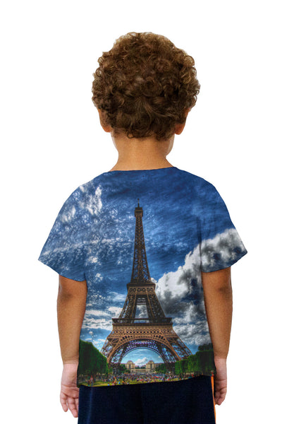 Kids Eiffel Tower Summer Kids T-Shirt