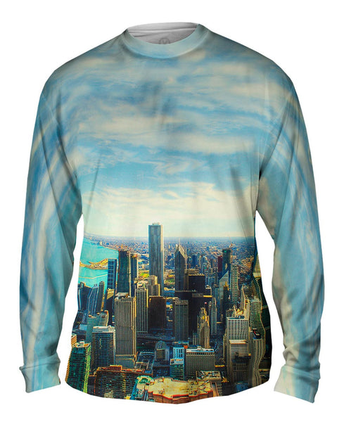 Chicago Skyline Mens Long Sleeve