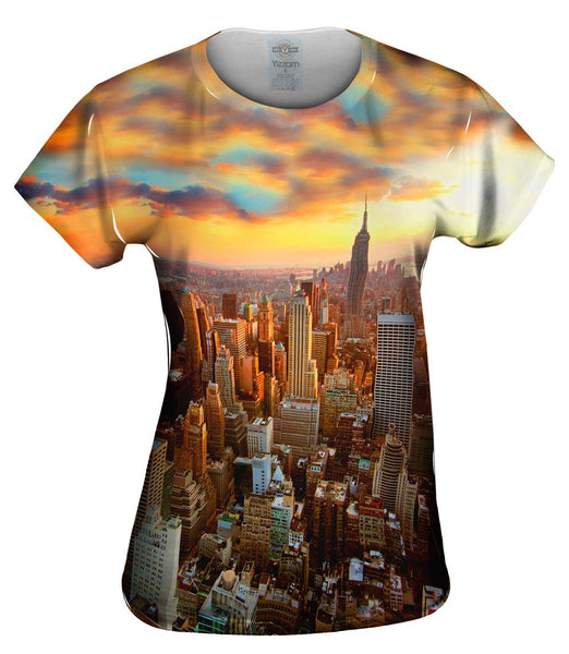 New York Sunset Womens Top