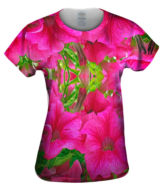Pink Flowers Womens Top