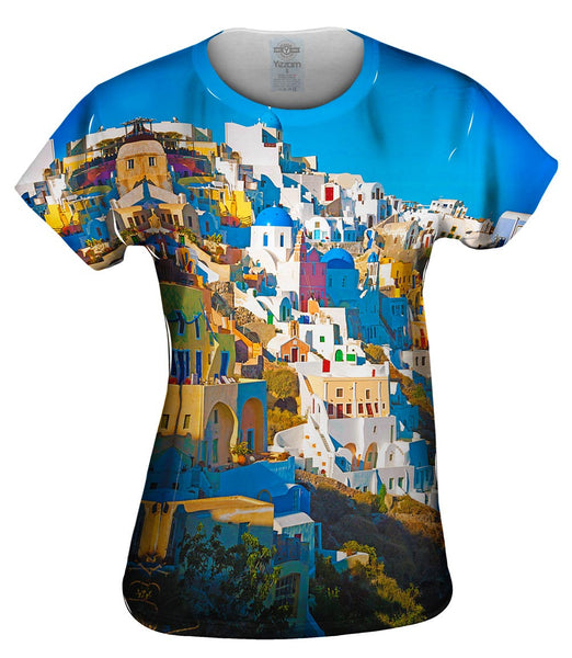 Picturesque Oia Womens Top