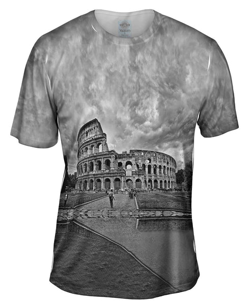 Bw Colosseum Rome Mens T-Shirt