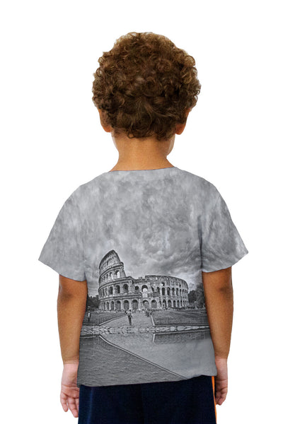 Kids Bw Colosseum Rome Kids T-Shirt