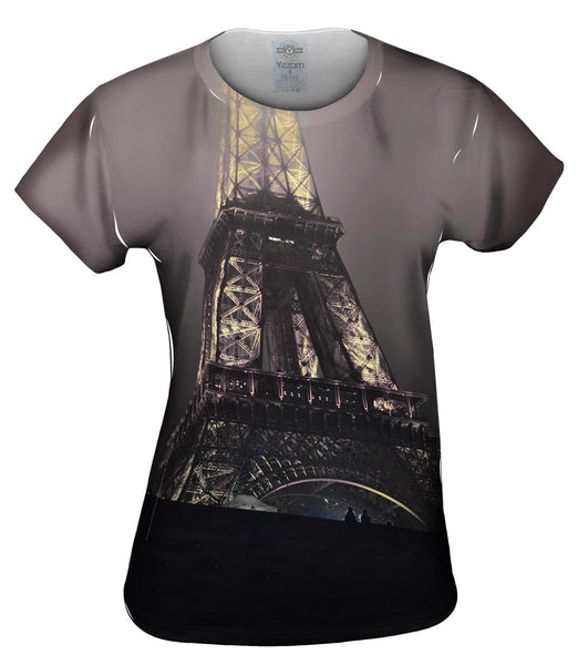 Eiffel Tower At Night Womens Top