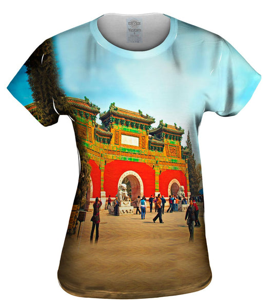 Glazed Tile Archway - Beihai - Park Womens Top