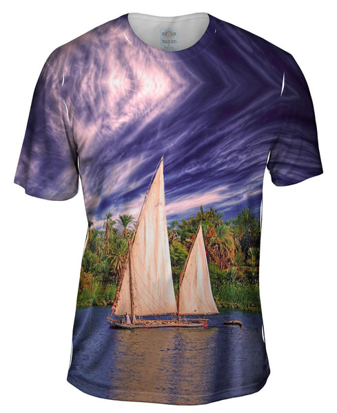 Boats Egypt Mens T-Shirt