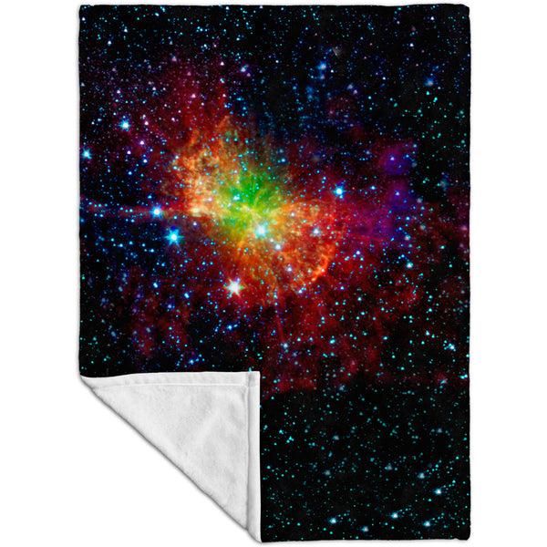 Space Galaxy Dumbell Nebula Fleece Blanket