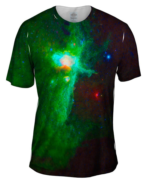 Space Galaxy Flame Nebula Mens T-Shirt