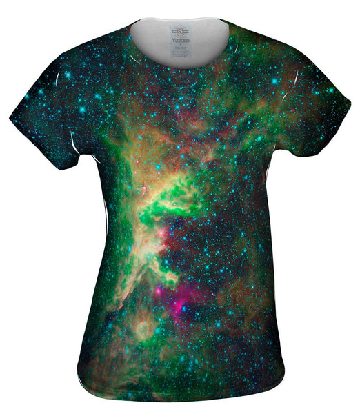 Space Galaxy Cepheus Star Clouds Womens Top