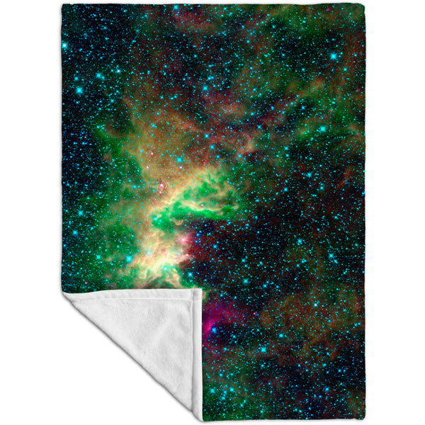 Space Galaxy Cepheus Star Clouds Fleece Blanket