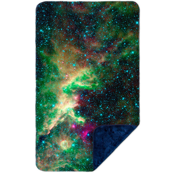 Space Galaxy Cepheus Star Clouds MicroMink(Whip Stitched) Navy
