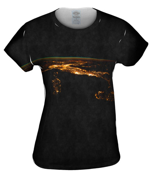 Space Nighttime Italy Womens Top