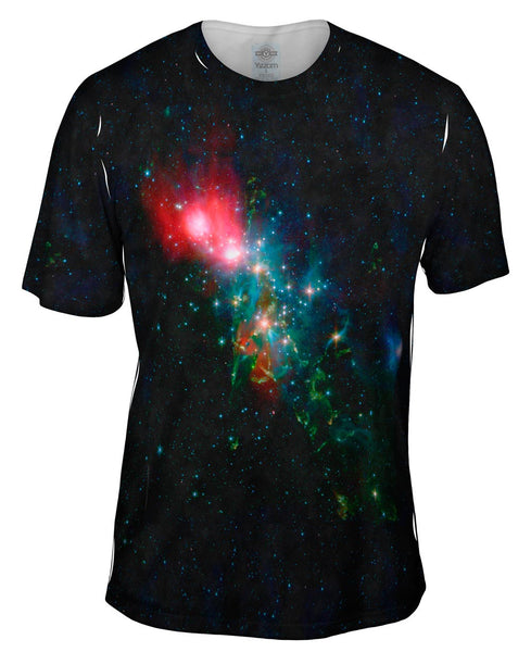 Space Galaxy Nebulae NGC Chaotic Beauty Mens T-Shirt