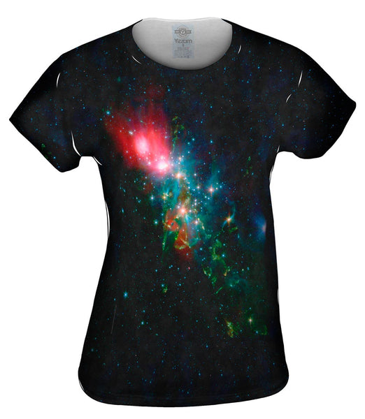 Space Galaxy Nebulae NGC Chaotic Beauty Womens Top