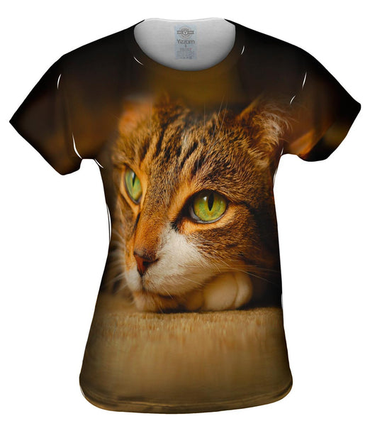 Calm Cute Cat Womens Top
