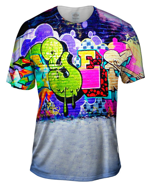 Graffiti And E Mens T-Shirt