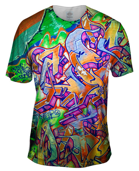 Graffiti Green Street Mens T-Shirt