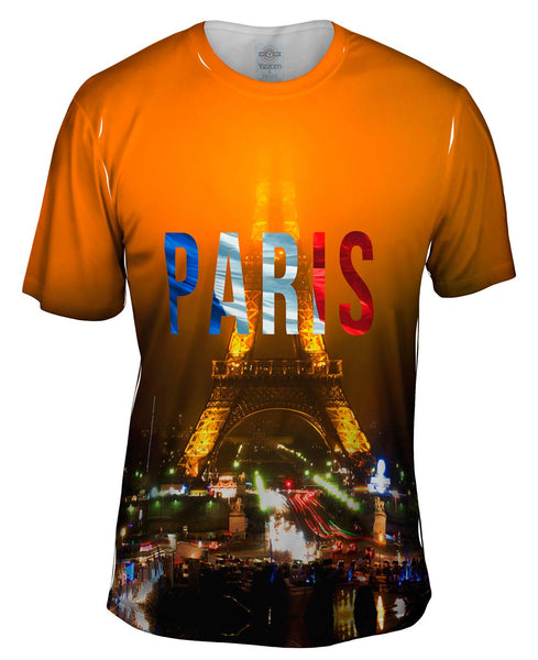 Paris Pride Eiffel Tower At Night Mens T-Shirt