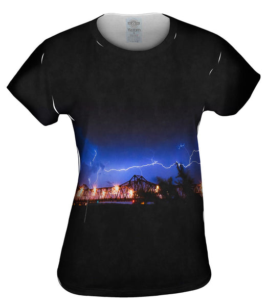 Lightning Crashes Womens Top