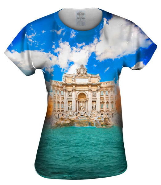 Trevi Fountain Rome Italy Womens Top