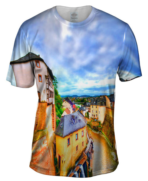 Saarburg River Views Mens T-Shirt