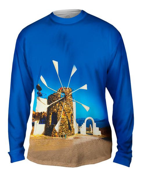 Cyclades Mill Greece Mens Long Sleeve