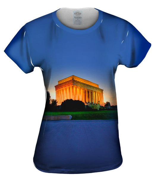 Lincoln Memorial Sunset Womens Top