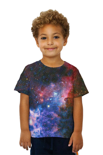 Kids Carina Nebula Space Galaxy Kids T-Shirt