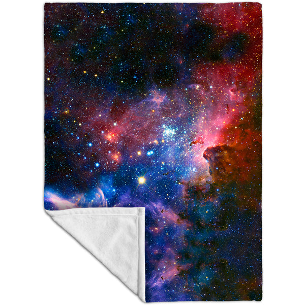 Carina Nebula Space Galaxy Fleece Blanket