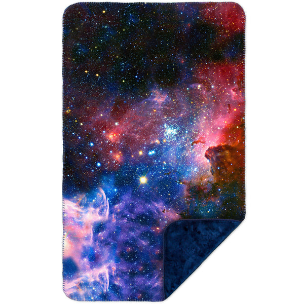 Carina Nebula Space Galaxy MicroMink(Whip Stitched) Navy