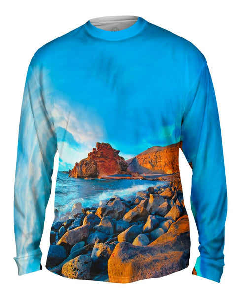 Canary Islands Spain El Golfo Beach Mens Long Sleeve