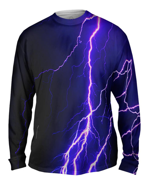 Violet Lightning Storm Mens Long Sleeve