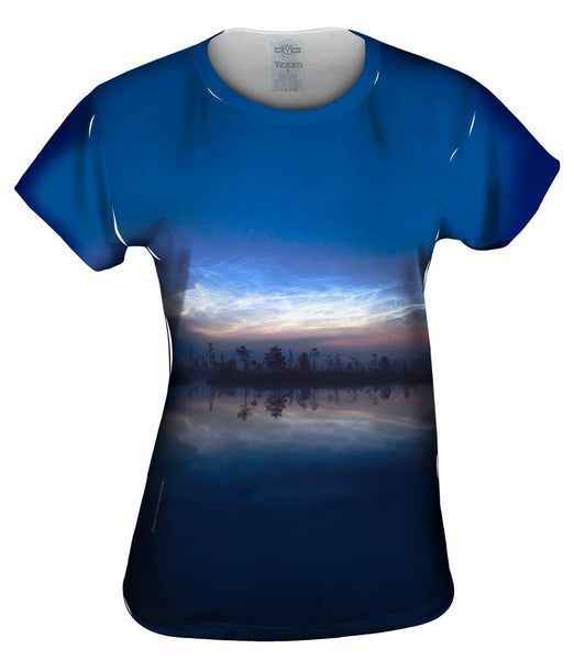 Noctilucent Clouds Glowing Womens Top