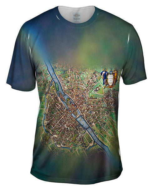 Map Of Paris 1657 Mens T-Shirt