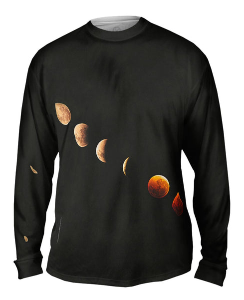 Lunar Eclipse Space Mens Long Sleeve