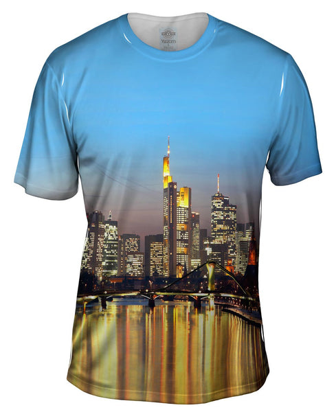 Skyline Frankfurt Germany Mens T-Shirt