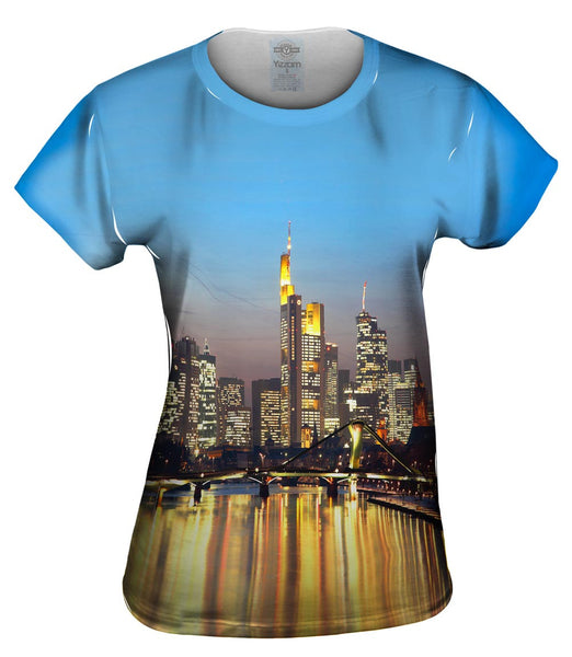 Skyline Frankfurt Germany Womens Top