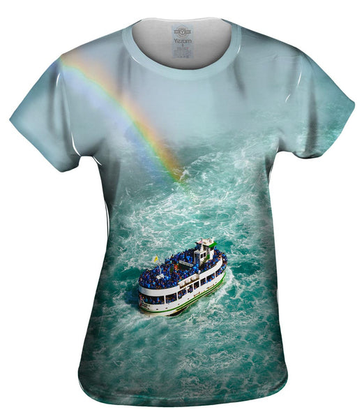 Niagara Falls Mist Rainbow Womens Top