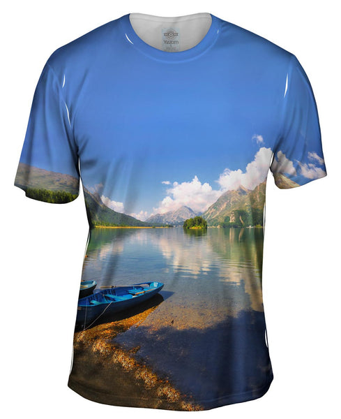 Lake Sil Switzerland Mens T-Shirt