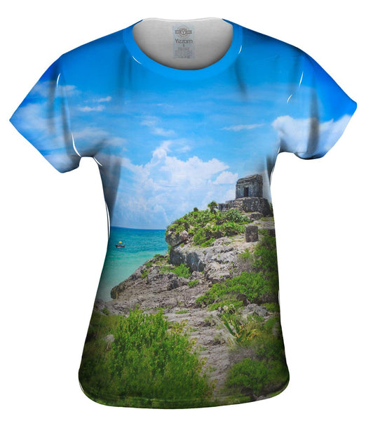 Temple Of The Wind God Tulum Mexico Womens Top