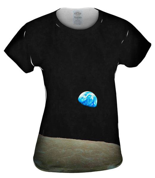 NASA Apollo 8 Earthrise From Space Womens Top