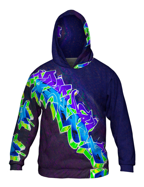 Graffiti Purple Planet Graffiti Art Basel Miami 2013 Mens Hoodie Sweater