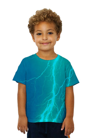Kids Lightning Storm Blue Turqouise