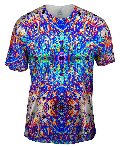 Psychedelic Neon Soap Party Violet Mens T-Shirt