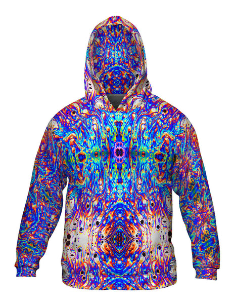 Psychedelic Neon Soap Party Violet Mens Hoodie Sweater