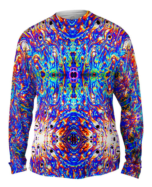 Psychedelic Neon Soap Party Violet Mens Long Sleeve