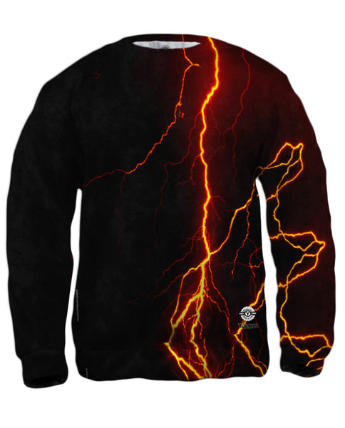 Lightning Storm Green Mens Sweatshirt