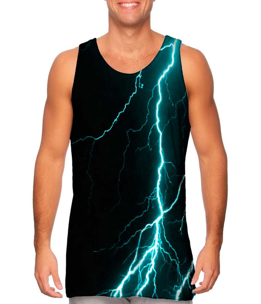 Lightning Storm Turquoise Mens Tank Top